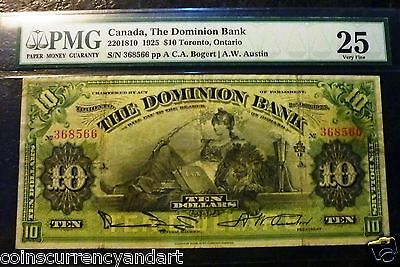1925 The  Dominion Bank - Canada $10  PMG 25