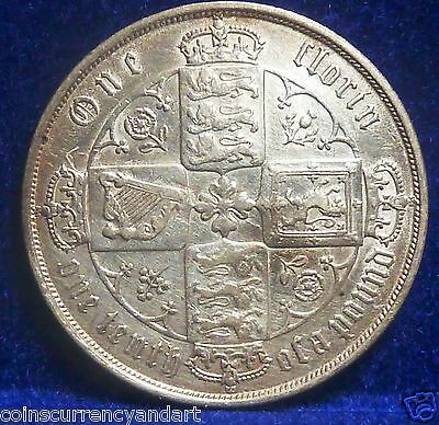 Great Britain 1872 GOTHIC  Florin, Two Shillings MDCCCLXXII