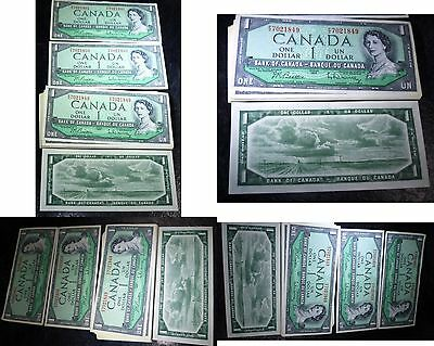 Canada 1954 $1 FIFTY Consecutive Notes P/Z UNCIRCULATED