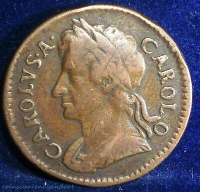UK 1674   (Great Britain) CHARLES II  Farthing