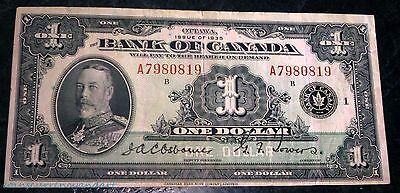 1935 Bank of canada $1