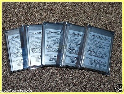 "5 x TOSHIBA 1.8"" 10GB 4200RPM HARDDRIVE MK1003GAL HDD1262 IPOD PLEASE SEE PHOTOS"