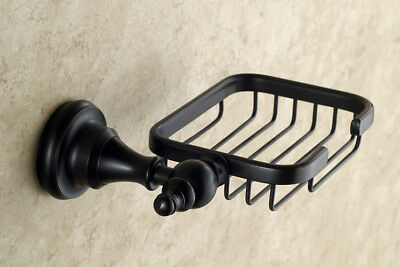 Wall Mounted Oil Rubbed Bronze Bathroom Soap Dish Holder Soap Basket