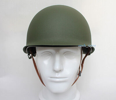 Collectable WWII US Army Military M1 Double-deck Green Helmet Replica
