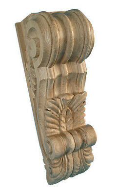 Giant Architectural Fireplace Mantel Shelf Corbel, in solid ASH wood, #478