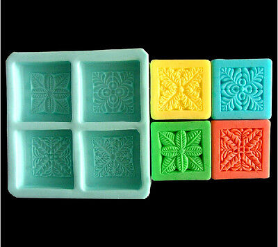 Plant Square Soap Mould Craft Art Bakeware Tool Silicone Handmade Soap DIY Molds
