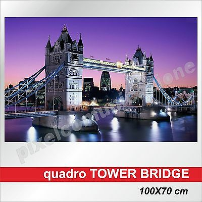Quadri Moderni Tela London Tower Bridge Canvas Ponte Londra Arredamento 100X70