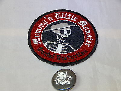 New Social Distortion Pin Mommys Little Monster Patch Hardcore Punk Rock Cowpunk