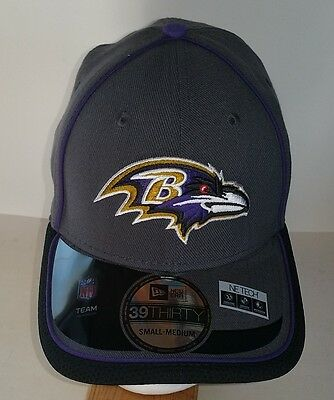 Baltimore Ravens Gray and Purple Fitted S/M New Era  NFL Hat New