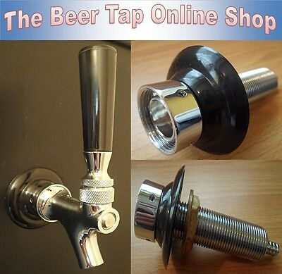 Beer Tap Creamer Action Beer Faucet with Shank - Kegerator - Home Bar - Homebrew