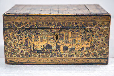 19th Century Chinoiserie Antique Humidor Jewelry Box  107-9074