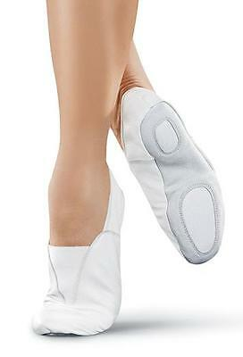High Quality Soft Leather Slip On Acro Gymnastic Shoes White n Black