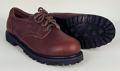 12 Pairs Wholesale Case - Men's Brown Leather Work Shoe - Brand New (M334B)