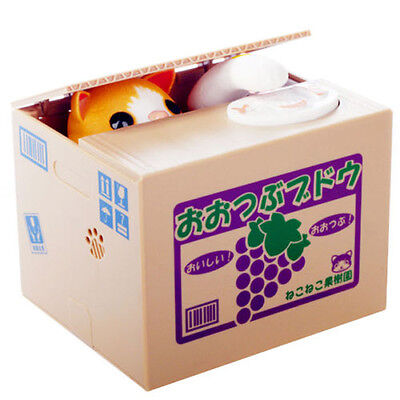 Coin Bank Box Robotic Stealing Money Toy Itazura Great Kids NWT 11.5CM Useful