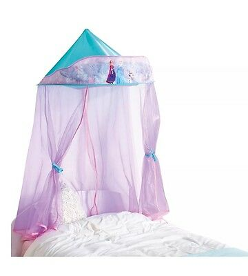 Disney Frozen Bed Canopy in Purple for Kids Girls Gift Room Decor - New