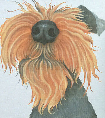 welsh terrier painting on ready to hang CANVAS fine art print by Lizzie Hall