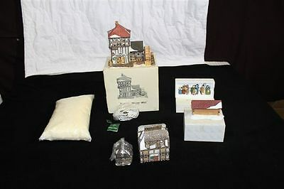 Vintage Department 56 Dickens Village Mill in Box with Carolers & Sir John Inn