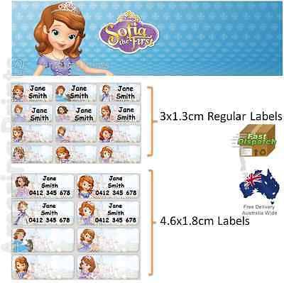 Sofia the first Vinyl Personalised Name Label Sticker school book girl princess