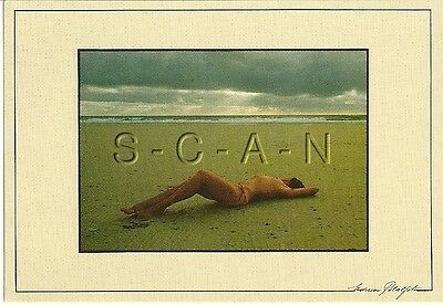 Original Vintage Italian Artistic Pinup PC- Nude Woman- At Beach- Artist Signed
