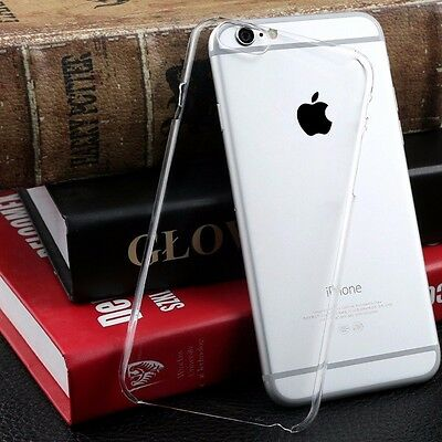 For iPhone 6s Plus Ultra Thin Soft Crystal Clear Hard Bumper Case Cover Apple