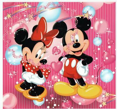 2 X IRON ON Transfer MICKEY AND MINNIE MOUSE Cartoon 19 X 20 cm