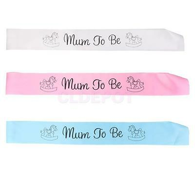 NEW Mum to be Writing Satin Sash for Baby Kids Birthday Baby Shower Party Decor