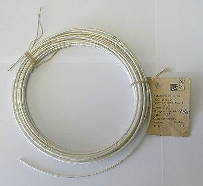 13m 21 AWG SILVER PLATED RADIO-FREQUENCY CABLE PK-50-2-22 COAXIAL CABLE 50 Ohm