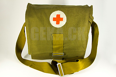 NEW, USSR Soviet Army Military Tablet Messenger Medical Bag Pouch Red Cross Case