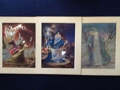 """Holographic Wizard Pictures 6"""" x 8"""" Lot of 3/Beautiful & Extremely Detailed!!!!"""