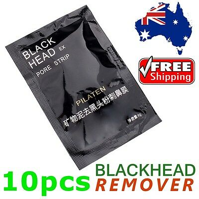 10 x PILATEN Blackhead Remover - Face Nose Pore Cleansing Mask Black Head Strip