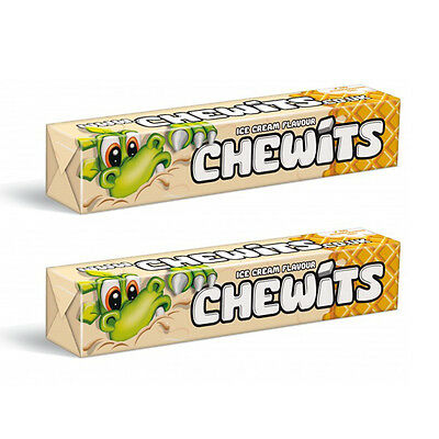 2 x CHEWITS ICE CREAM Flavor Chewy Candy 2 x 29g