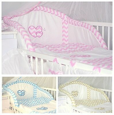 Baby's Comfort 3 PCS BABY BEDDING SET HEARTS ( 12 NEWEST DESIGNS )