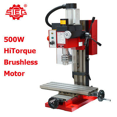 SIEG SX2-P 500w Brushless Motor Hi Torque Milling Machine, 400x145mm Large Table