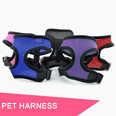 Pet Dog Puppy Cat Soft Vest Leash Mesh Breathe Adjustable Harness Braces Clothes