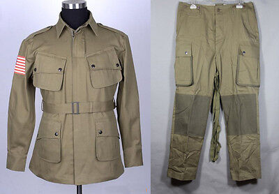 WWII WW2 US Military Army M42 Airborne Jumpsuit Jacket and Trousers