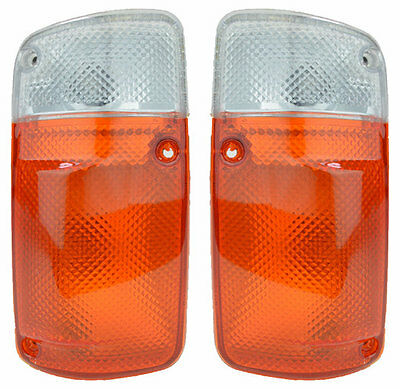 Pair of Corner Indicators Lights for Nissan Patrol GQ 08/87-10/94 New Lamp 92 93