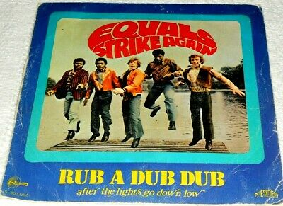 """The Equals Rub A Dub Dub / After The Lights Go Low Spain Ps 7"""" 1969"""