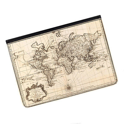 "Vintage Old World Map #2 Universal Tablet 9-10.1"" Leather Flip Case Cover"