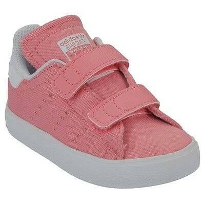 Girls Infants Baby Kids Adidas Stan Smith Trainers RRP £49 Pink B23633