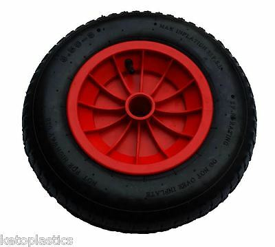 "16"" Pneumatic Wheelbarrow Wheel / Tyre 4.80/4.00-8 - 20Mm Bore"
