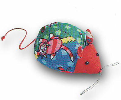 Little Mouse Shape Pin Cushion - Red Blue Green Retro Style - Kids Sewing Gift