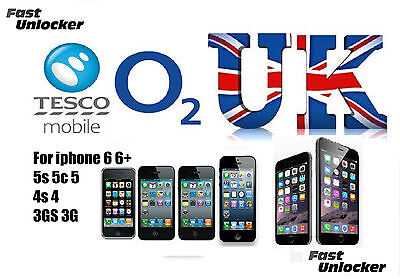 O2 Tesco UK official factory unlock code for apple iphone 6 6+ Plus 5s 5c 5 4s 4