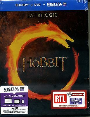 LE HOBBIT LA TRILOGIE COFFRET BLU RAY+ DVD + COPIE DIGITALE  NEUF ref 3112151975