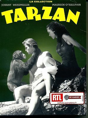 TARZAN  avec johnny weissmuller  la collection  coffret 7 dvd neuf  ref 05011515