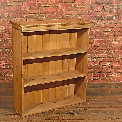 Antique Pine Bookcase, Victorian Dresser Top, English, Country Book Case c.1900 • £495.00