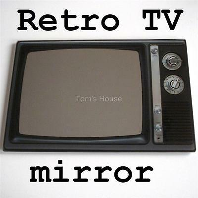 """CLEARANCE TV Retro Wall 16"""" x 10"""" mirror vtg dial style glass"""