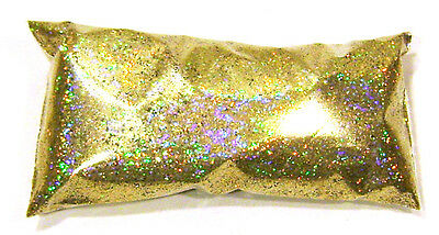 "2oz / 59ml Gold Jewels Holographic Metal Flake .015"" Auto Paint Additive LF172"