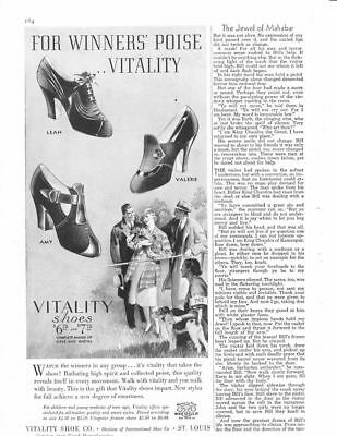 1937 Magazine Print Ad~Vitality Shoes~Women's~ A120