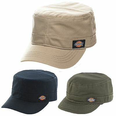 6da3cfd3f14 Dickies Army Cadet Military Fitted Cap Hat Khaki Navy Blue Olive Green S M  L