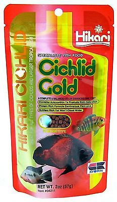 Hikari Cichlid Gold Pellet 250gr BABY,MINI,MEDIUM,LARGE Tropical Fish Food